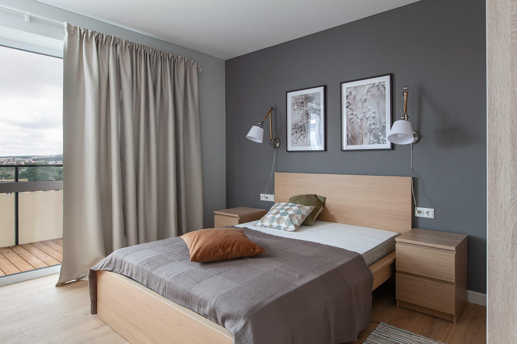 Butas sudarytas iš dviejų kambarių – vieno miegamojo ir vieno gyvenamojo